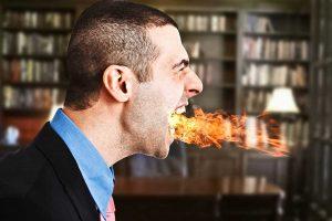 advogado cupindo fogo - postura profissional